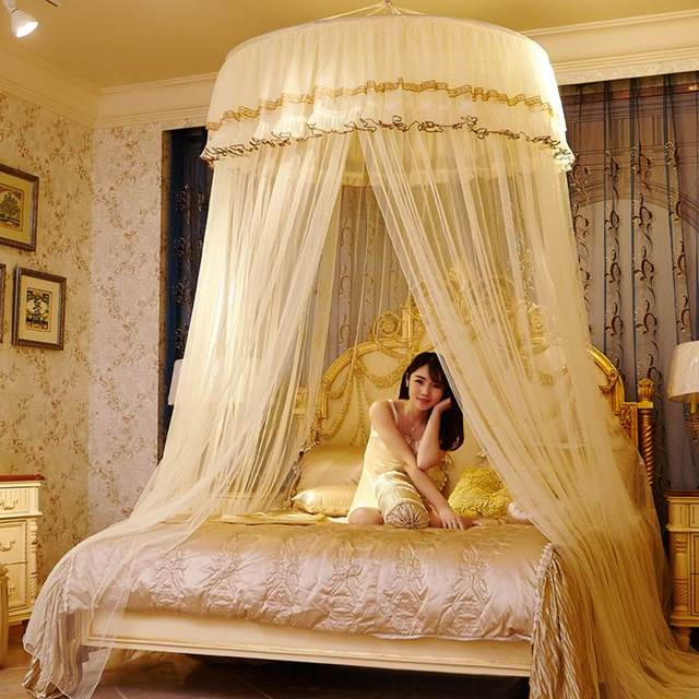 5 Sizes Round Bedding Mosquito Net Bedroom Insect Prevent Sleeping Curtain Dome Top Princess Bed Canopy
