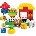 Большой Размер кирпича КИТАЙ марка Строительные Блоки Классические Детские Игрушки, Совместимые с lego duplo 10517 Мой Первый Зеленый Сад
