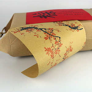 New Arrival 100PCS China Floral Printed Kraft Paper Gift Wrapping Paper for Handmade Soap Gift Wrapper Homemade Soap Packing
