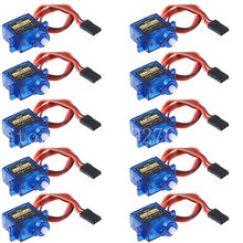 10pcs/lot Tower Pro SG90 Micro Servo 9g Torque 1.8kg JR for Aeromodelling Trex 450 RC Planes Helicopter Parts