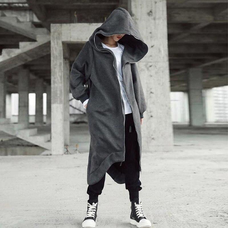 3efac0fc74a44 Plus Size ZANZEA Women Winter Fleece Warm Hooded Zip Pockets Long Coat  Baggy Black Long Sleeve