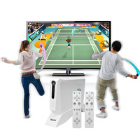 Et 66 беспроводной ручной ТВ Видео игровой консоли построить в 620 Классический 8 бит мини двойной геймпад AV выход