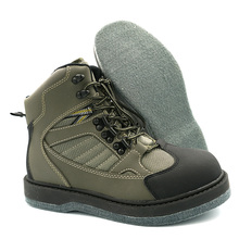 Felt Outsole Fishing Wading Boots for Fly Fishing  Non-slip Fishing Boots Breathable Fishing Shoes Quick Dry Wading Shoes