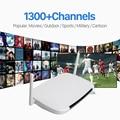 Android Smart TV Caja con 1 Año Gratis Qhdtv Iptv Canales Europa Italia Francia Canal Plus Francés árabe Set Top Box Media jugador