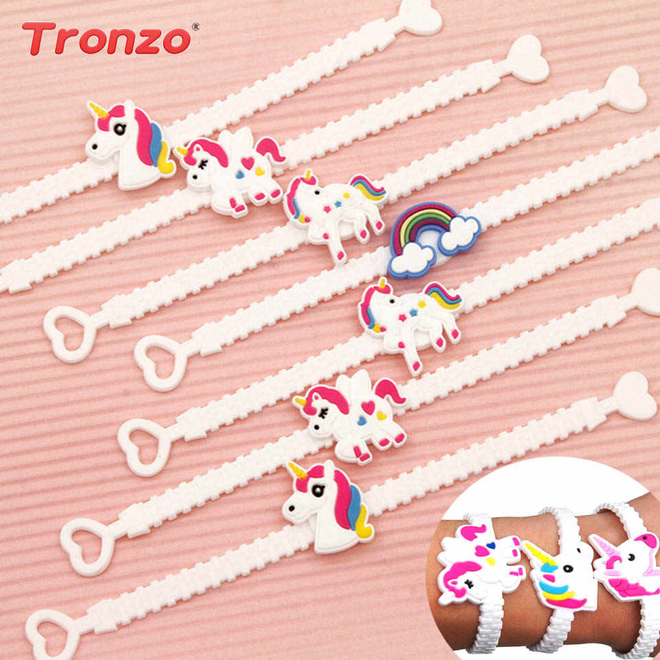 42c731f43143b0 Tronzo Unicorn Party Decoration 12pcs Rubber Bangle Bracelet Birthday Party  Decorations For Kids Unicorn Decor Party