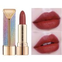 1 Pcs Lipstick Starry Sky Non stick Moisturizing Colorful Tube Lipstick 6 Colors Long Lasting Lips Makeup Women Sexy Lipstick