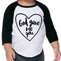 New 2017 Family Matching Outfits Mom and son God gave me you T-Shirt Long Sleeve Cotton Top Tees Spring Autumn Family Look