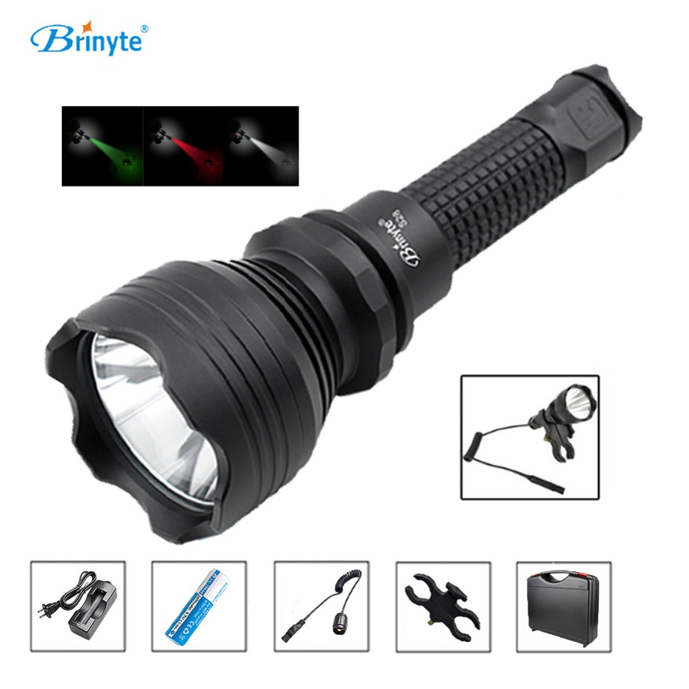 S28 Tactical Torch Lamp Cree XM-L2 U4 LED Search Rescue Flashlight with Gun Mount 18650 Battery Charger Remote Switch brinyte s18 high power tactical torch lamp cree xm l2 u4 led search rescue flashlight with gun mount 18650 battery and charger