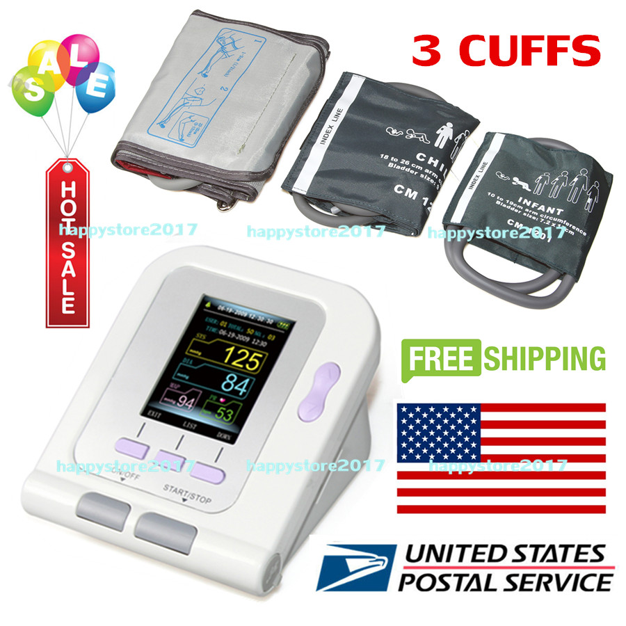 US Seller CONTEC08A OLED Digital Blood Pressure Monitor Heart beat Monitor PC USB 3 cuff Free ShippingUS Seller CONTEC08A OLED Digital Blood Pressure Monitor Heart beat Monitor PC USB 3 cuff Free Shipping