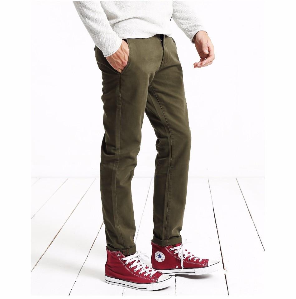 HTB1iKE0XorrK1RkSne1q6ArVVXaY Simwood Brand Autumn Winter New Fashion 2019 Slim Straight Men Casual Pants 100% Pure Cotton Man Trousers Plus Size KX6033