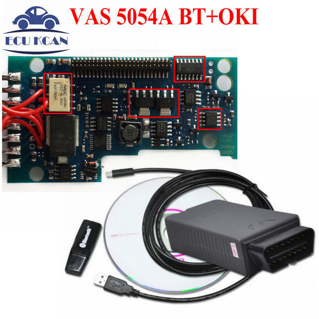 VAS 5054A Bluetooth V19 VAS 5054 VAS5054 Bluetooth VAS5054A With OKI Function Multi Language Vas5054A DiagnosticTool