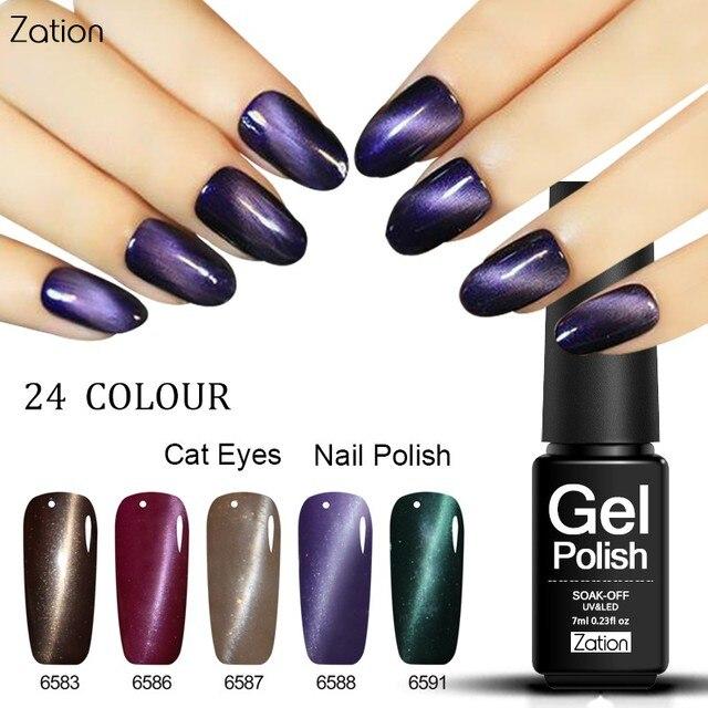 Zation Magnetic Gel Polish Primer Color Change Nail Polish Magnet ...