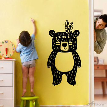 Creative Lovely Cute bear Vinyl Wall Sticker Decals Removable Lovely Nursery Unique Murals Gift Baby Room Home Decoration