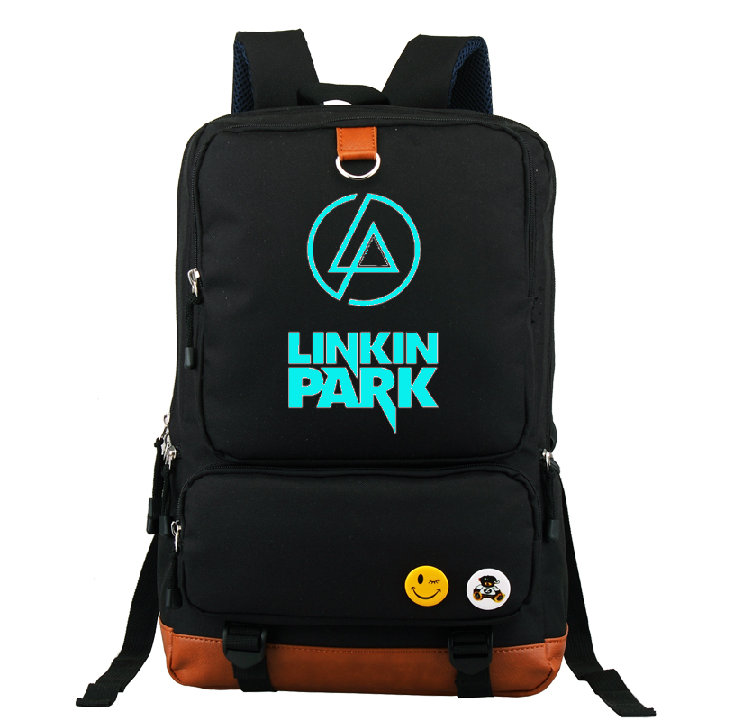 Linkin Park Backpack School Bag Large Size Laptop Bag Xmas Gift Can Glow in the dark Couple Bag Mochila майка классическая printio linkin park burning in the skies
