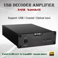 SMSL Sanskrit 6th Decoder Amplifier USB DAC Audio AMP Hi fi Portable Decodificador 32bit Power Amplificador