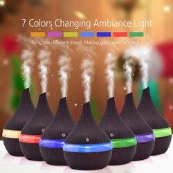 7 Mudança Da cor Luzes LED Aromaterapia Aroma do Óleo Essencial Difusor de Aroma Ultra-sônica Umidificador de Ar aroma elétrica