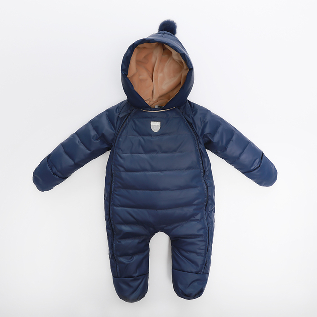 Baby Rompers Newborn Baby Girl Thermal Duck Down Winter Snowsuit Baby Cute Hooded Jumpsuit Newborn Baby Boy Clothes Ski Suit