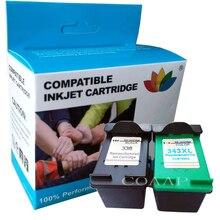 1 комплект совместимый картридж с чернилами для hp 338 343 для Photosmart C3100 C3110 C3140 C3150 C3170 C3180 C3190 Officejet 7210 7310 7410