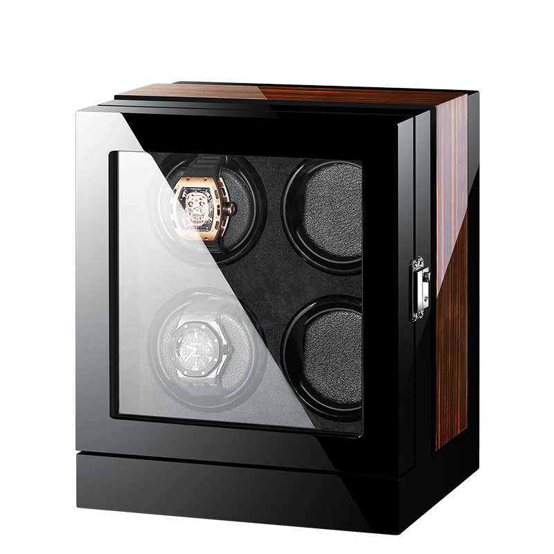High-End Solid Wood 4 Mechanical Watches Winder Automatic Watch Winder Multi-Function Touch Screen Control 5 Modes Watch Winder цена и фото