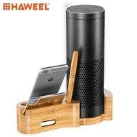 HAWEEL Phone Holder Multi function Wooden Desk Stand Holder, for Mobile Phone / Speaker / Pen / Card