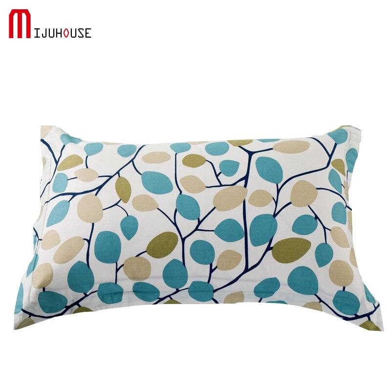 Home1/2 flor patrón almohada casos 100% algodón cama funda de ...