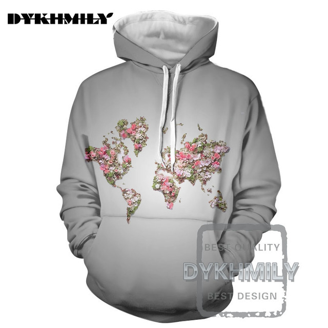 Dykhmily new mens 3d printing of new mens hoodies in 2017 world dykhmily new mens 3d printing of new mens hoodies in 2017 world map flower street gumiabroncs Gallery