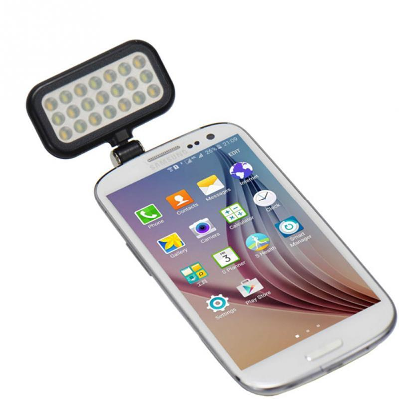 LED Lighting Selfie Flash Fill Light For Camera Phone Lens For iPhone 4 5 5C 5S SE 6 6S 7 Multiple Photography Selfie Sync Flash ...