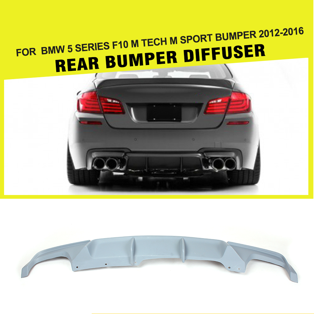 FRP Racing Rear Bumper Diffuser Lip for BMW 5 Series F10 530i 550i M Sport Only 2012-2016