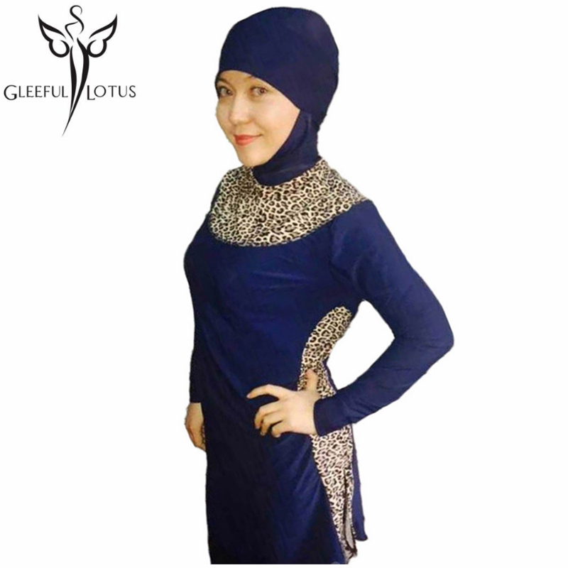 Aliexpresscom  Buy Leopard Muslim Swimwear Full Coverage -6449