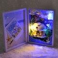1 ШТ. #2 Океан Русалка DIY Миниатюрный Кукольный Домик Комплекты СВЕТОДИОДНЫЕ Кукольный Дом Рамка Для Фото-Игрушки Для Подарок На День Рождения
