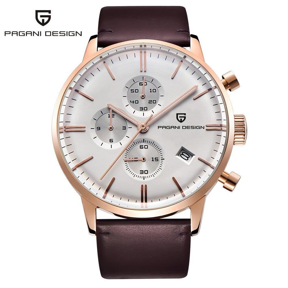 Original Luxury Brand PAGANI DESIGN Waterproof Genuine Leather Sport Military Quartz Watches Men Relogio Masculino/PD-2720K
