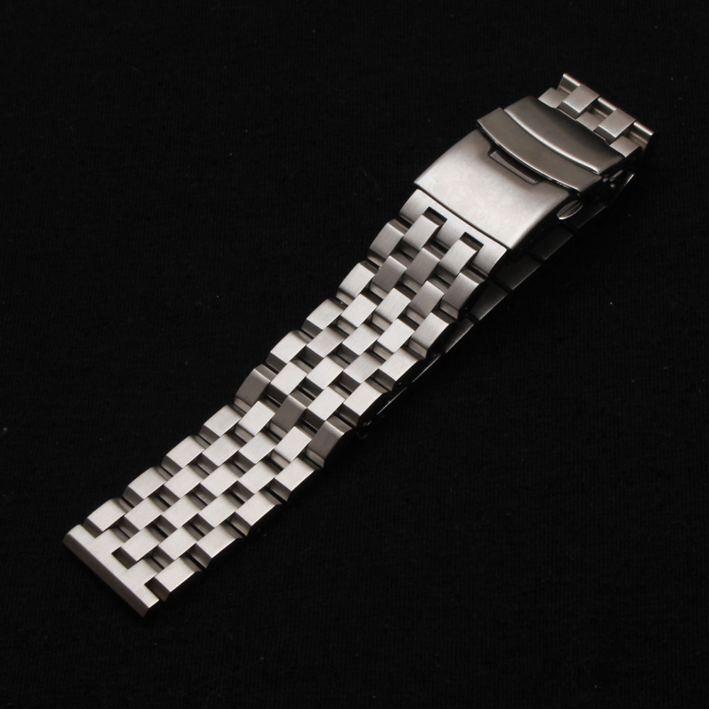 18mm 20mm 22mm 24mm 26mm Silver watchband bracelet strap High Quality Metal Stainless steel wristWatch Band for men women hours