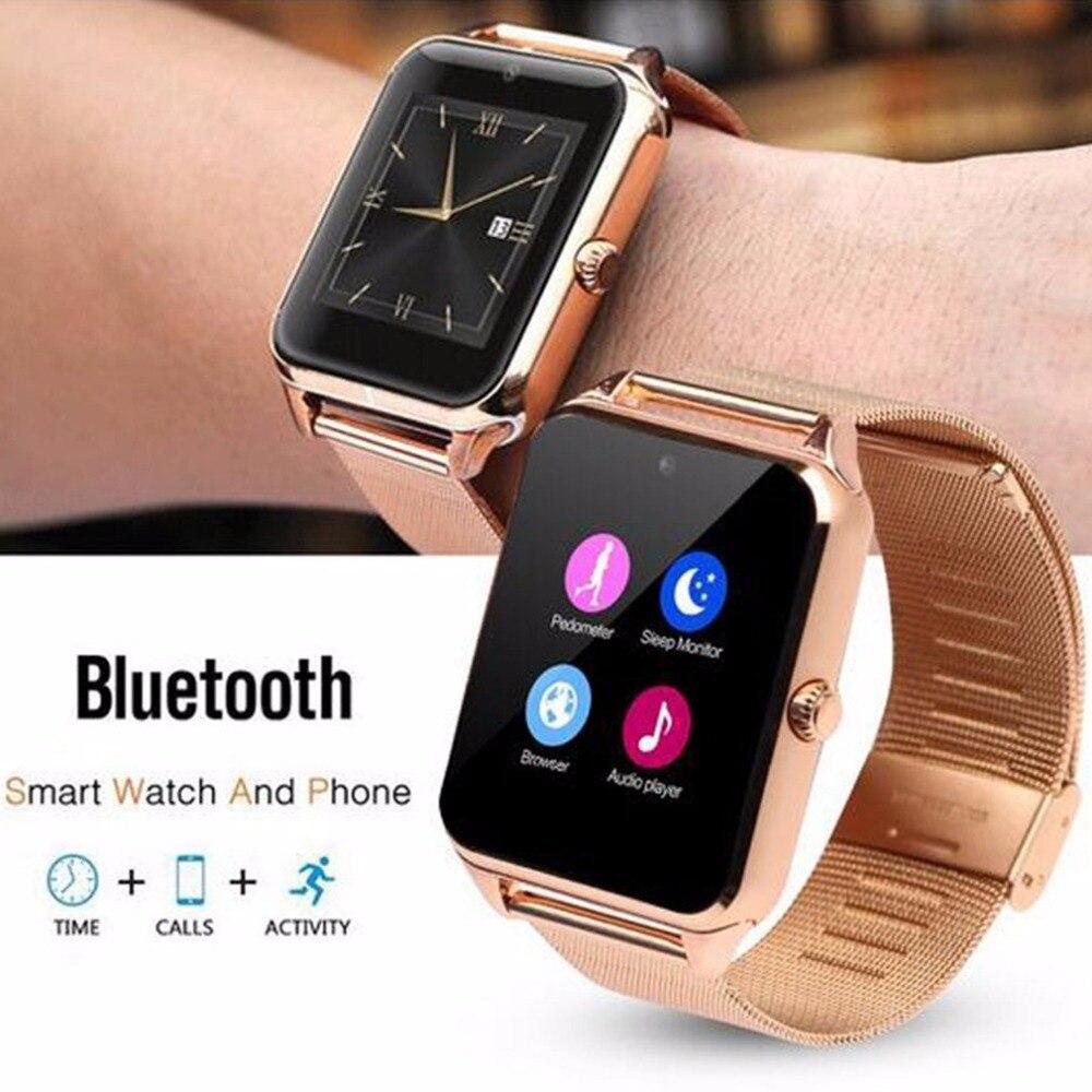 Montre Smart Watch GT08 Z60 Hommes Femmes Bluetooth Poignet Smartwatch Soutien SIM/TF Carte Montre-Bracelet Pour Apple Android Téléphone PK DZ09