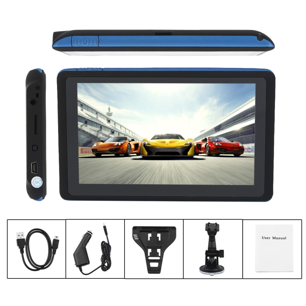 5 Inch 480x272 HD Display Cars Truck Vehicles GPS FM Sat Nav Navigation System 8G Automobile Navigators Free Map Download