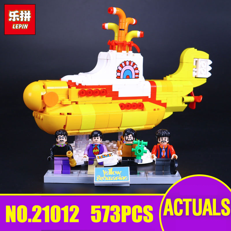 Lepin 21012 Movie Series The beautiful submarine Set legoing 21306 Building Blocks Bricks Toys Model For Kids Birthday Gifts lepin 21012 builder the beatles yellow submarine with 21306 building blocks bricks policeman toys children educational gift toys