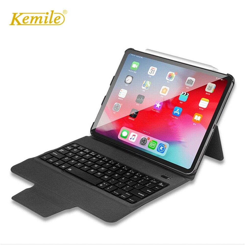 Kemile For iPad Pro 11 Case W Wireless Bluetooth Keyboard Ultra Slim Stand Auto Wake Sleep