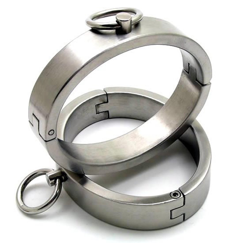 new stainless steel leg cuffs sex bondage restraints fetish slave bdsm women anklet sex products adult sex toys for couples metal leather bondage harness leg irons ankle cuffs adult games bdsm fetish slave restraints sex toys shackles sex products