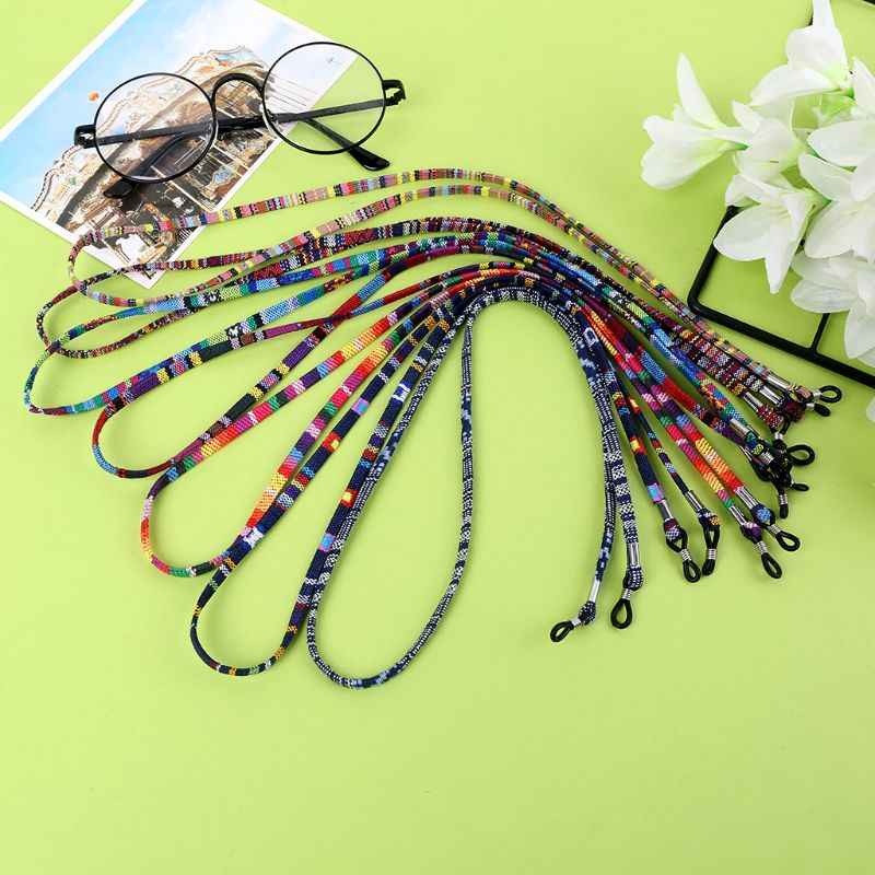 71cm Colorful Ethnic Style Sunglasses Eyewear Cotton Neck String Cord  Retainer Strap Random Color 1pc