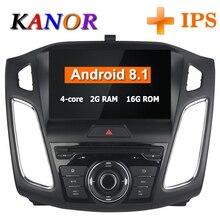 KANOR 9 дюймов ips четырехъядерный Android 8,1 радио gps для Ford Focus 2015 2016 автомобильный DVD видео плеер gps Bluetooth Wi-Fi