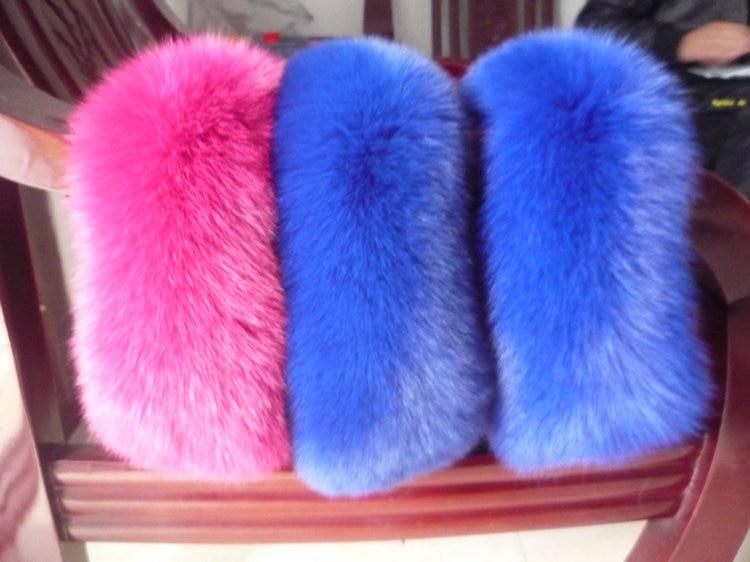 Livraison gratuite colliers de fourrure foulards homme et femme le col de fourrure de renard 22 couleurs femmes écharpe de fourrure col spécial - 2