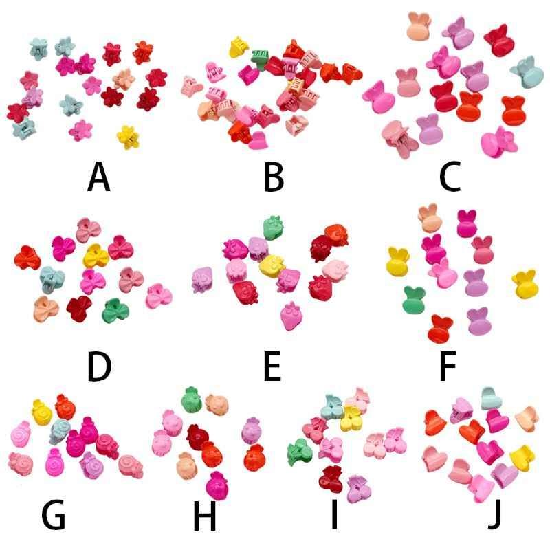 Для девочек милый цветок Банни плоды в форме мини-сбоку волос когти захватить Пластик сладкий Карамельный цвет милые шпильки заколки с