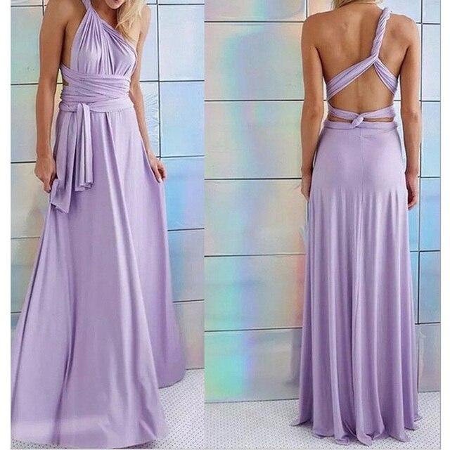 Sexy Long Dress Bridesmaid Formal Multi Way Wrap Convertible Infinity Maxi Dress Navy Blue Hollow Out Party Bandage Vestidos 4