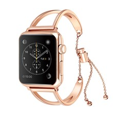 Fashion Women Smart Watch Band for Apple Watch 42m/38mm Stainless Steel Smart Bracelet Luxury Watchband