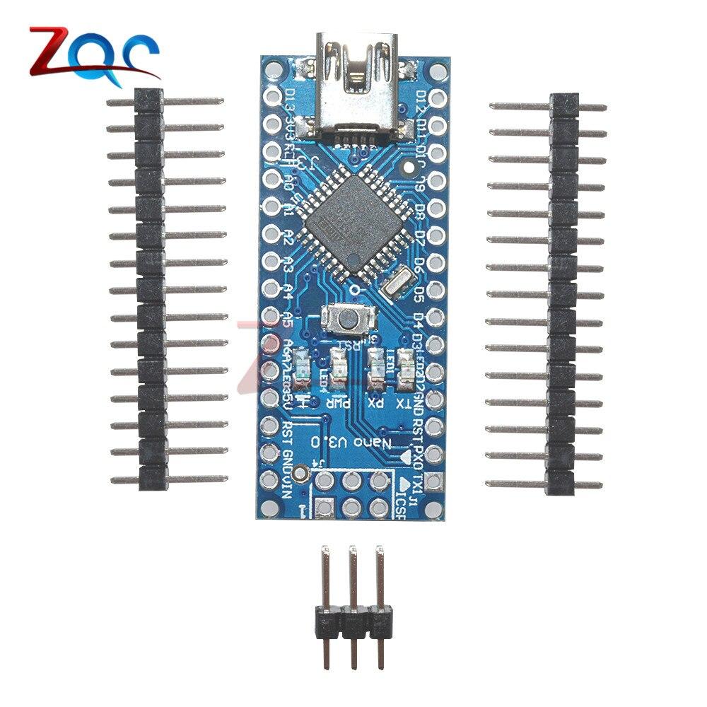Mini USB Nano 3.0 Atmega328P-AU Atmega328 Microcontroller for Arduino FT232 5V 16M Board Module With Pins все цены