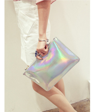 2017 Fashion women messenger bags ladies Envelope Clutches handbag Laser women bags Designer clutch bag