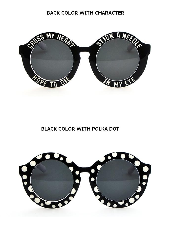 Sunglasses Text  online european vintage retro holland oversized round text