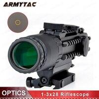 AIrsoft 1 3x28 прицел желтый горит дальномер Сетка воздуха Охота Сфера для охотничьих ружей
