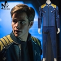 Star Trek За Капитан Кирк косплей костюм Star Trek равномерное Чехов Кирк костюм костюм значок Хэллоуин костюмы для взрослых мужчин