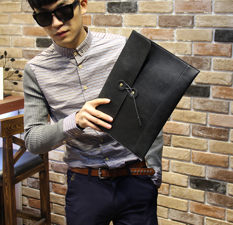 PU leather clutch men messenger envelope clutch bag men ...