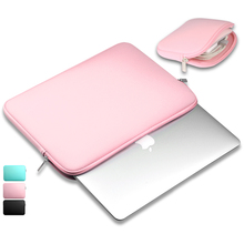 "Portable Zipper Doux Doublure Manches Sac D'ordinateur Portable Notebook Computer Case Sac Smart Cover pour 11 ""13"" 14"" 15 ""Macbook Air Pro Retina(China)"